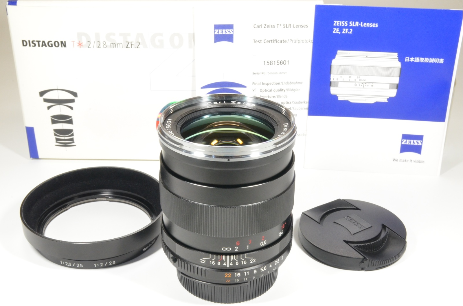 carl zeiss distagon t* 28mm f2 zf.2 lens for nikon in boxed from japan