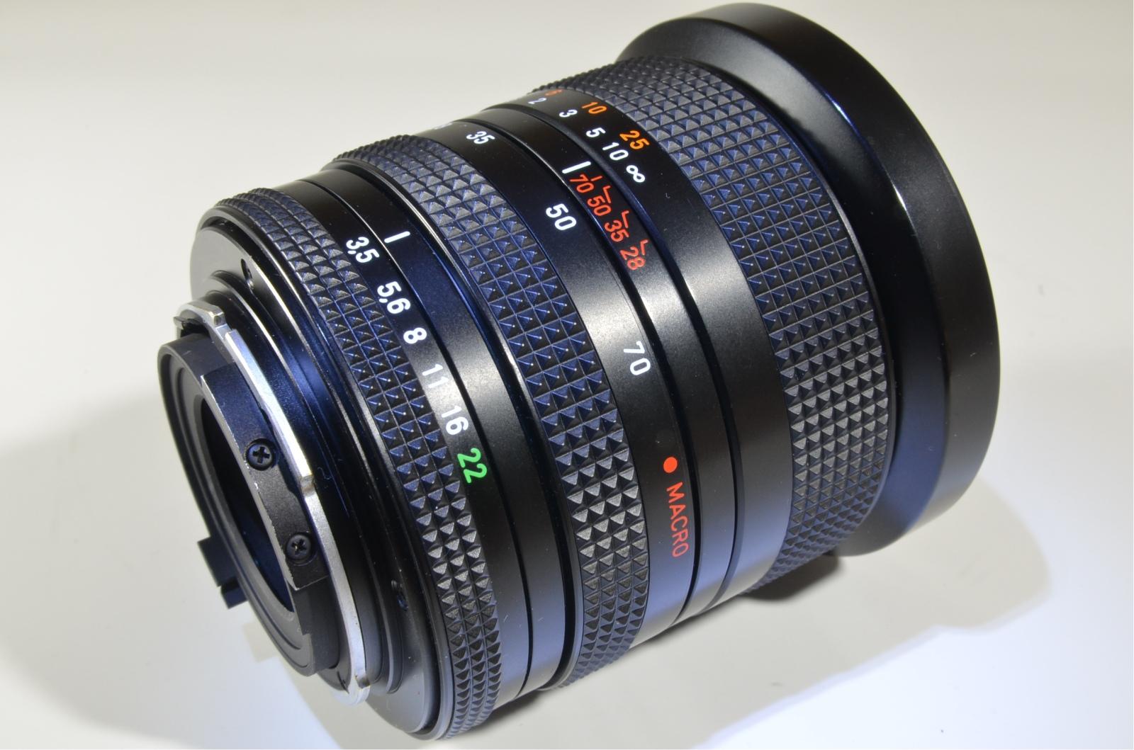 carl zeiss contax vario sonnar t* 28-70mm f/3.5-4.5 mmj