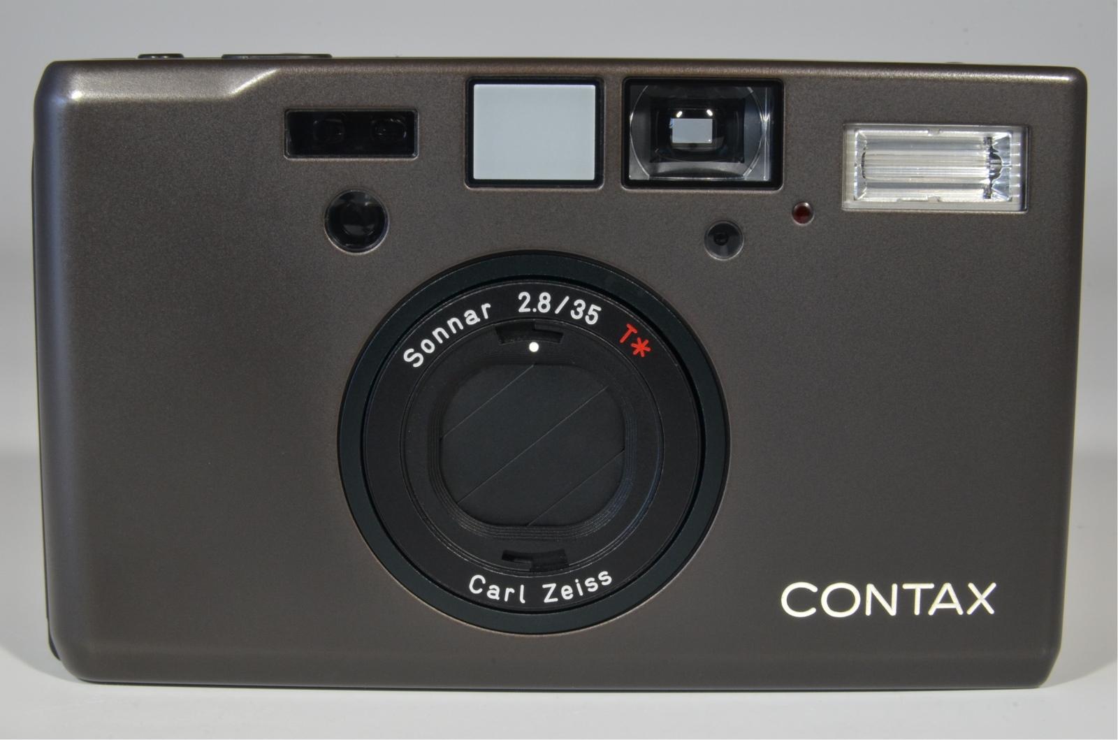 contax t3 titanium black point & shoot 35mm film camera