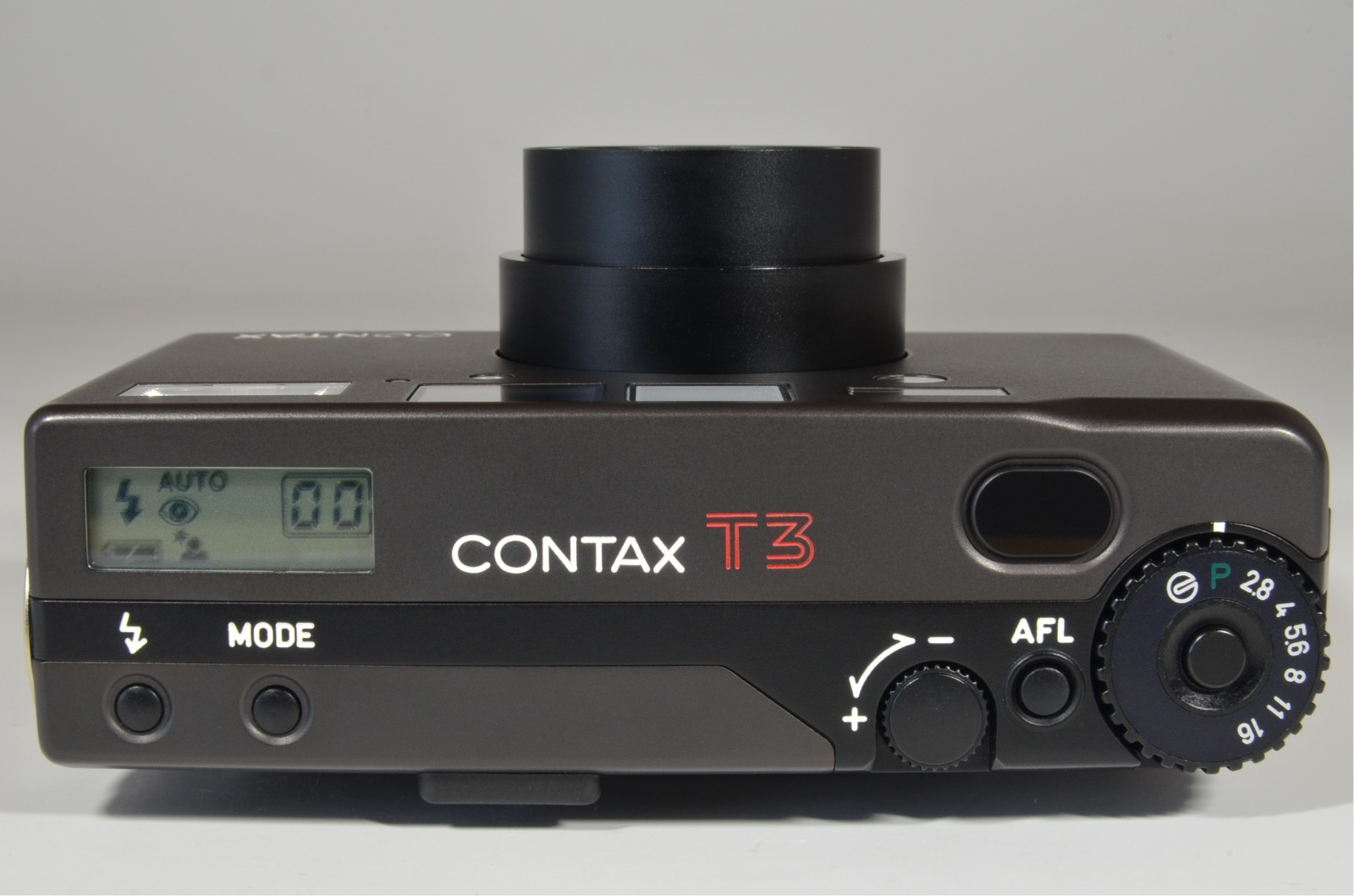 contax t3 data back titanium black in boxed point & shoot 35mm film camera