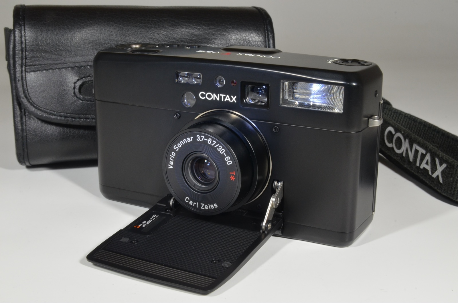 contax tvs iii black point & shoot 35mm film camera