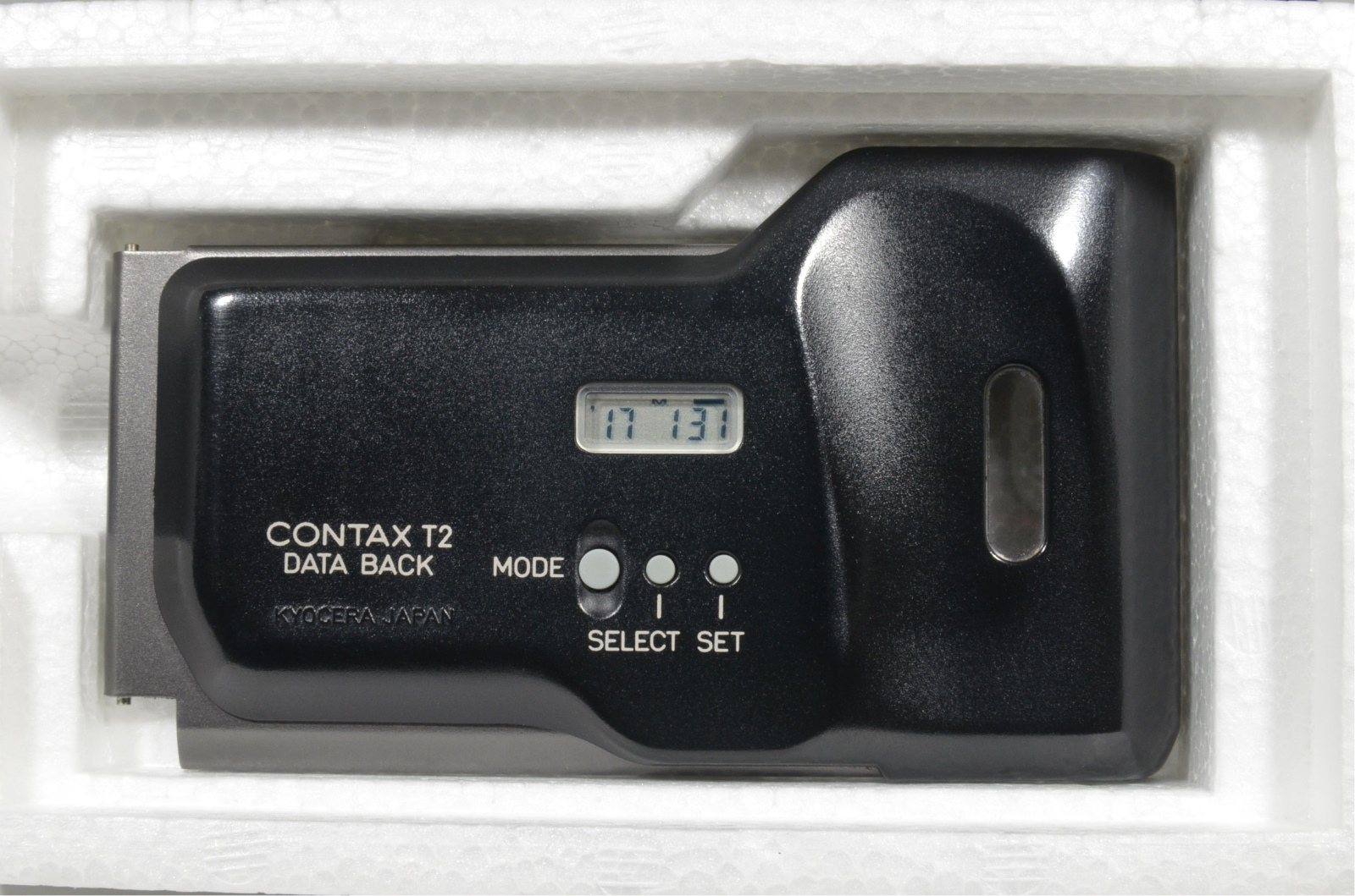 contax t2 data back panel titanium black