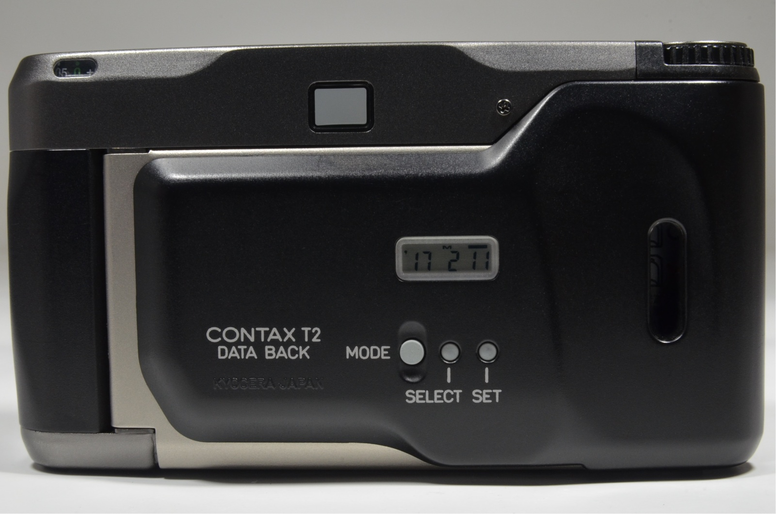 contax t2 data back titanium black point & shoot 35mm film camera