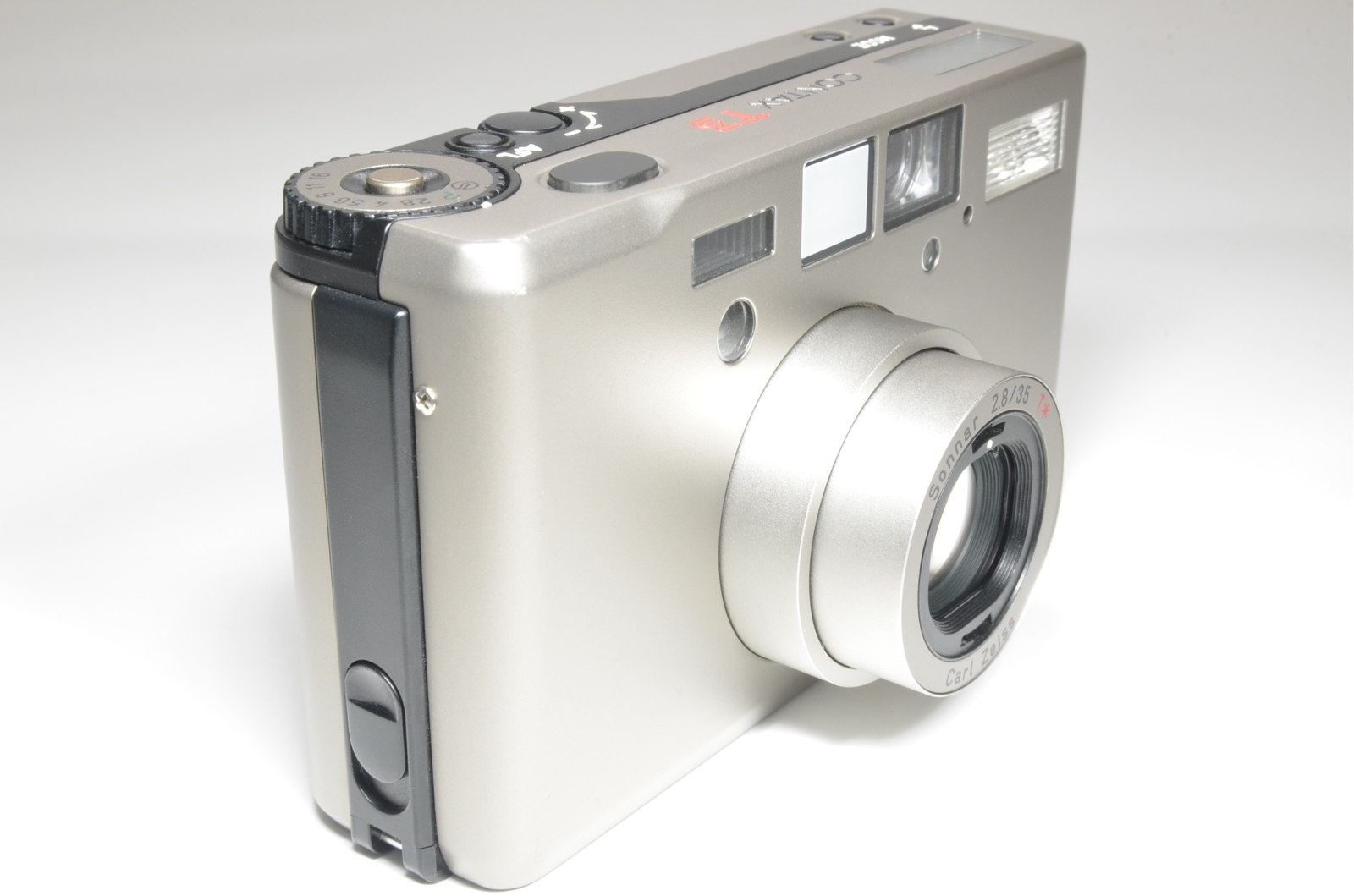 contax t3 'double teeth' point & shoot 35mm film camera