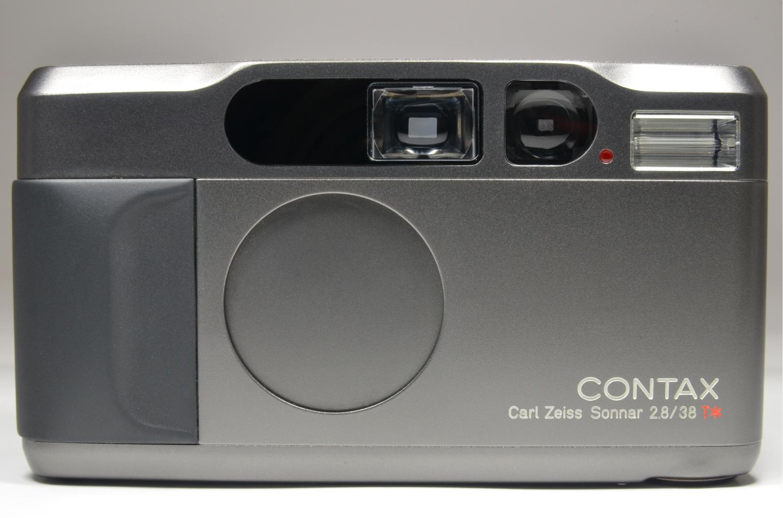 contax t2 titanium black data back p&s 35mm film camera