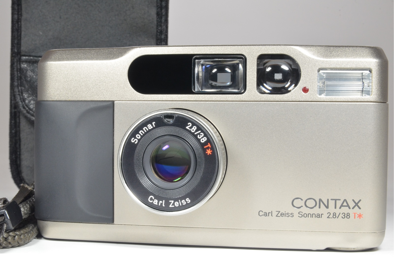 contax t2 data back p&s 35mm film camera full leather case