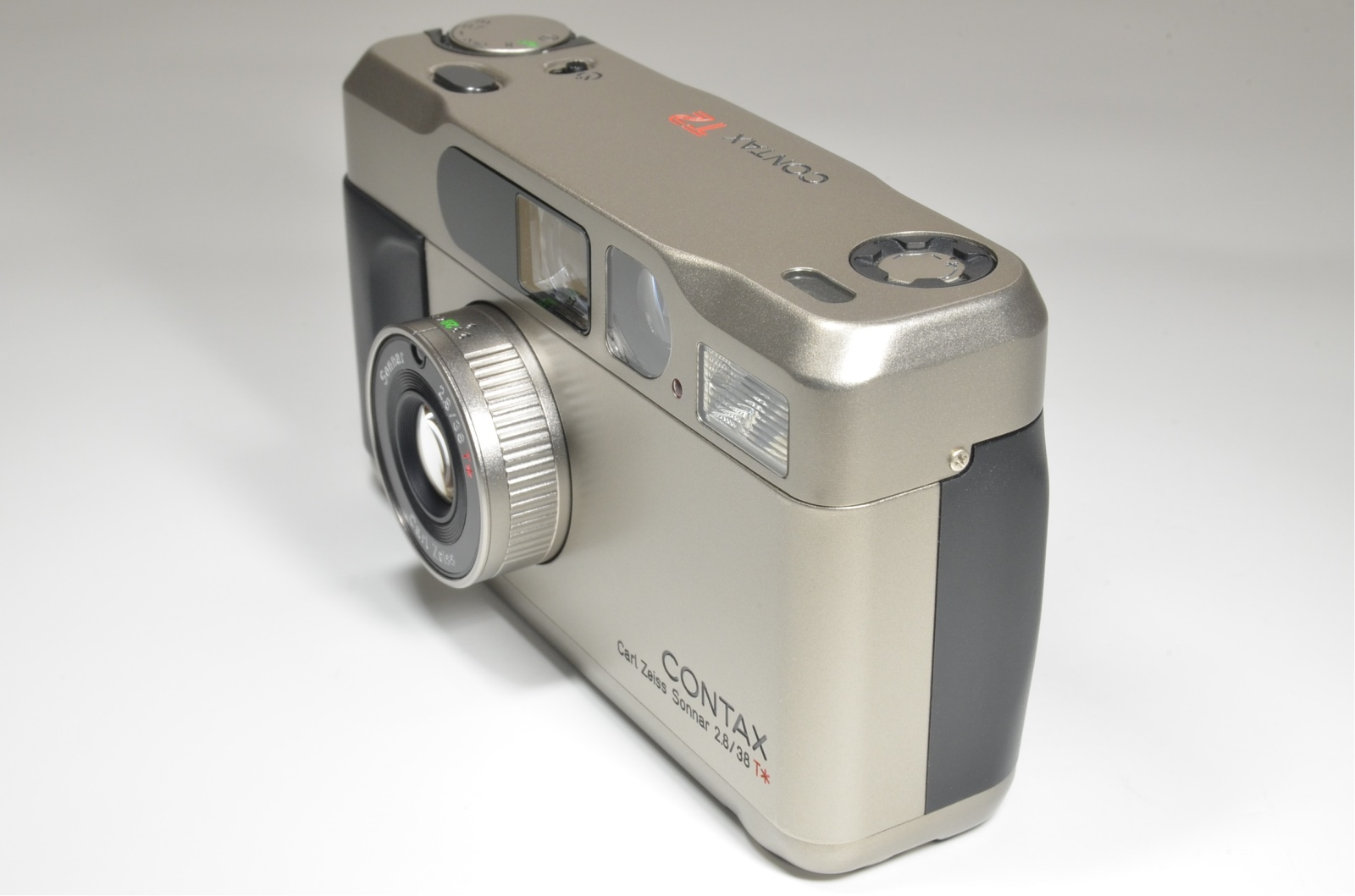 contax t2 titanium silver camera boxed with extra data back panel