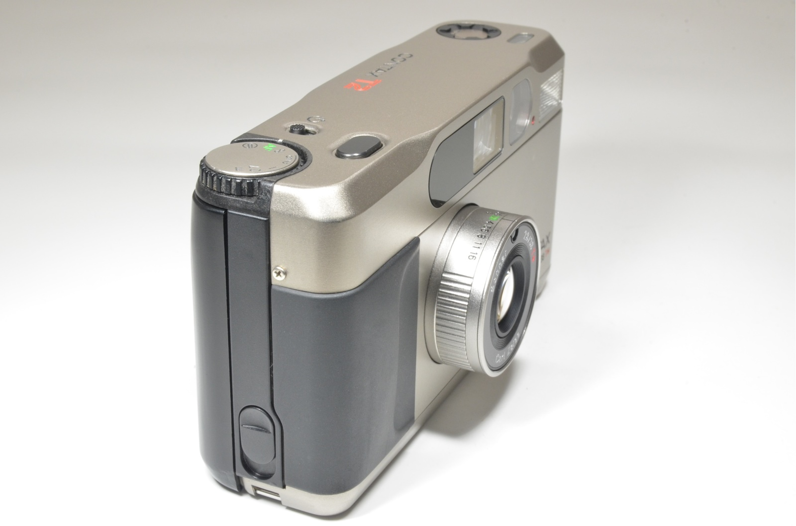 contax t2 data back titanium silver p&s 35mm film camera