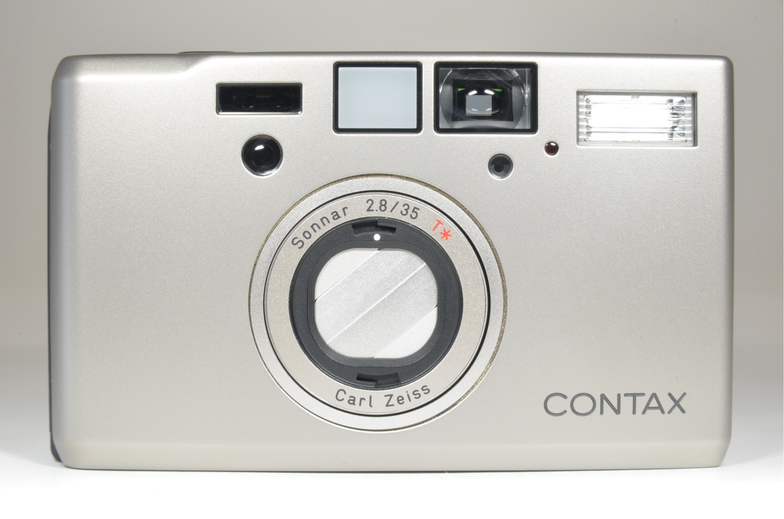 contax t3 silver 'double teeth' point & shoot 35mm film camera
