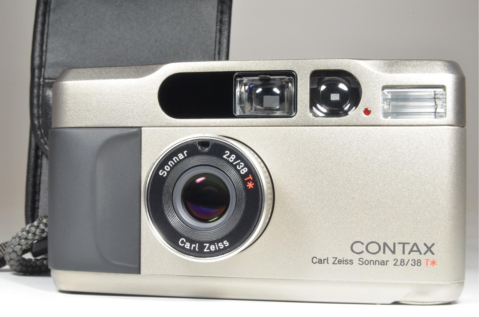 contax t2 data back titanium silver p&s 35mm film camera