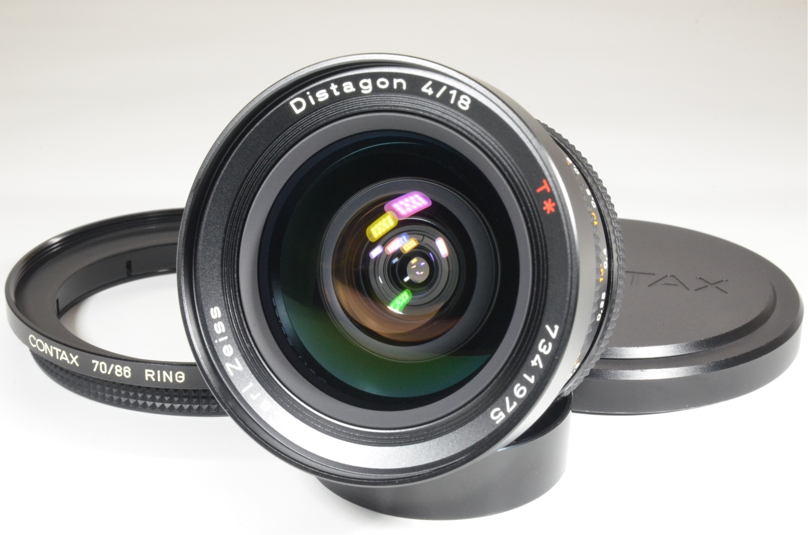 contax carl zeiss distagon t* 18mm f4 mmj with 70/86 ring