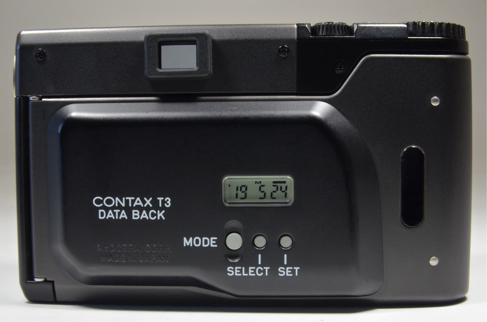 contax t3 black data back double teeth from japan film tested