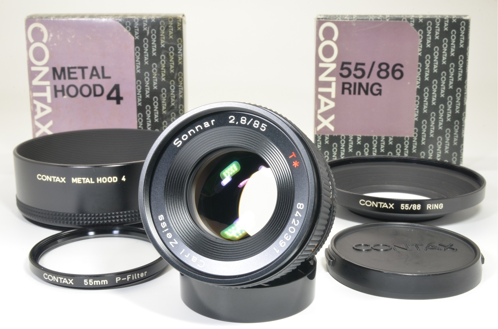 contax carl zeiss sonnar 85mm f2.8 mmg germany w/ lens hood shooting tested