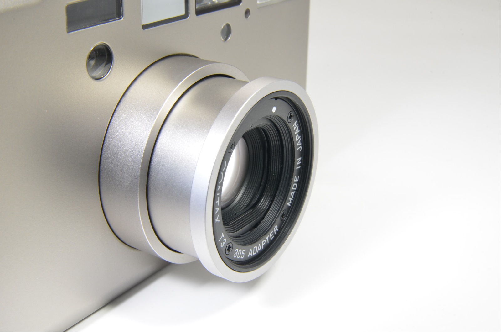 contax t3 titanium silver double teeth near mint shooting tested