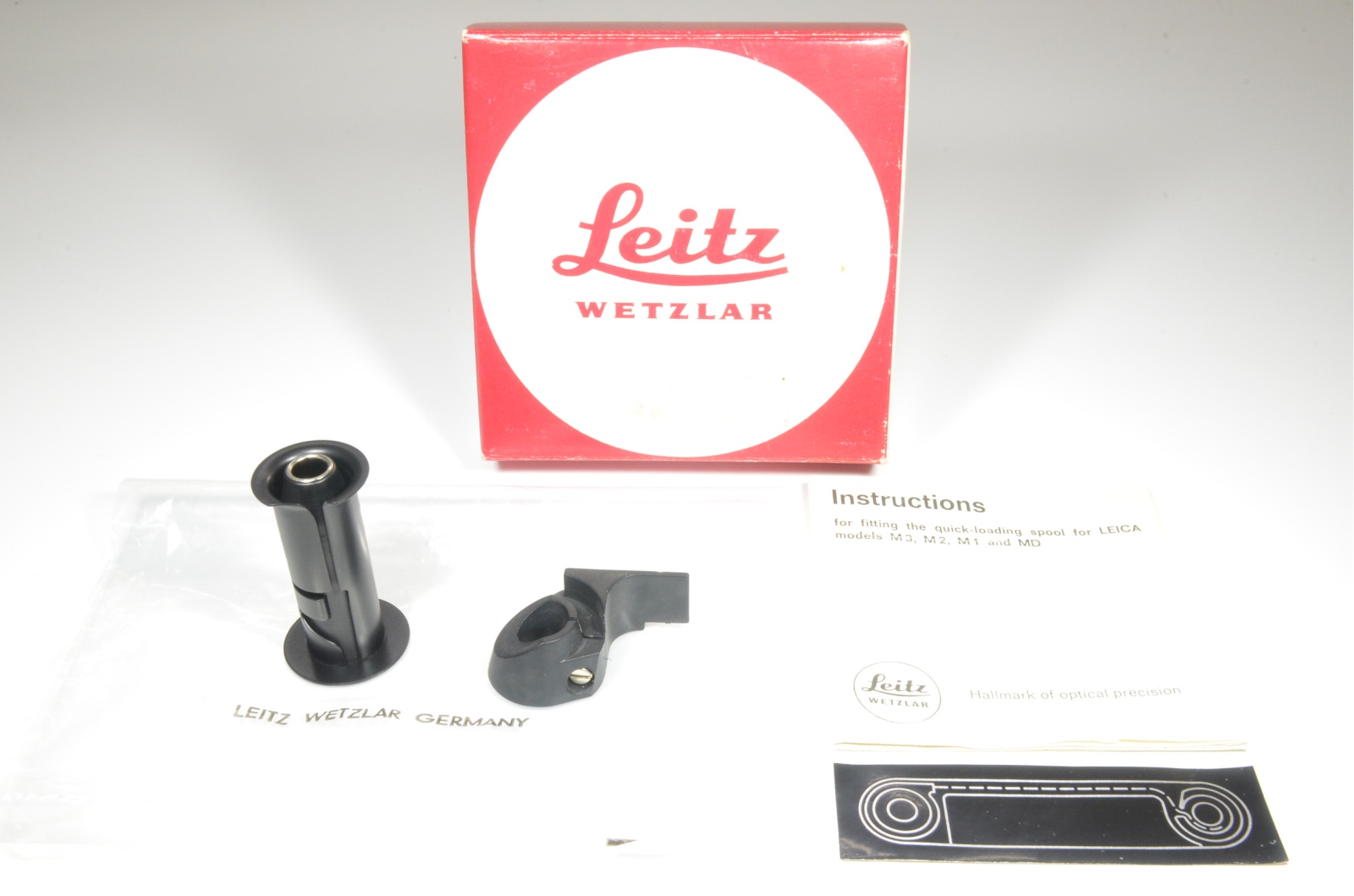 leitz wetzlar rapid quick load spool kit 14260 for leica m1, m2, m3 and md