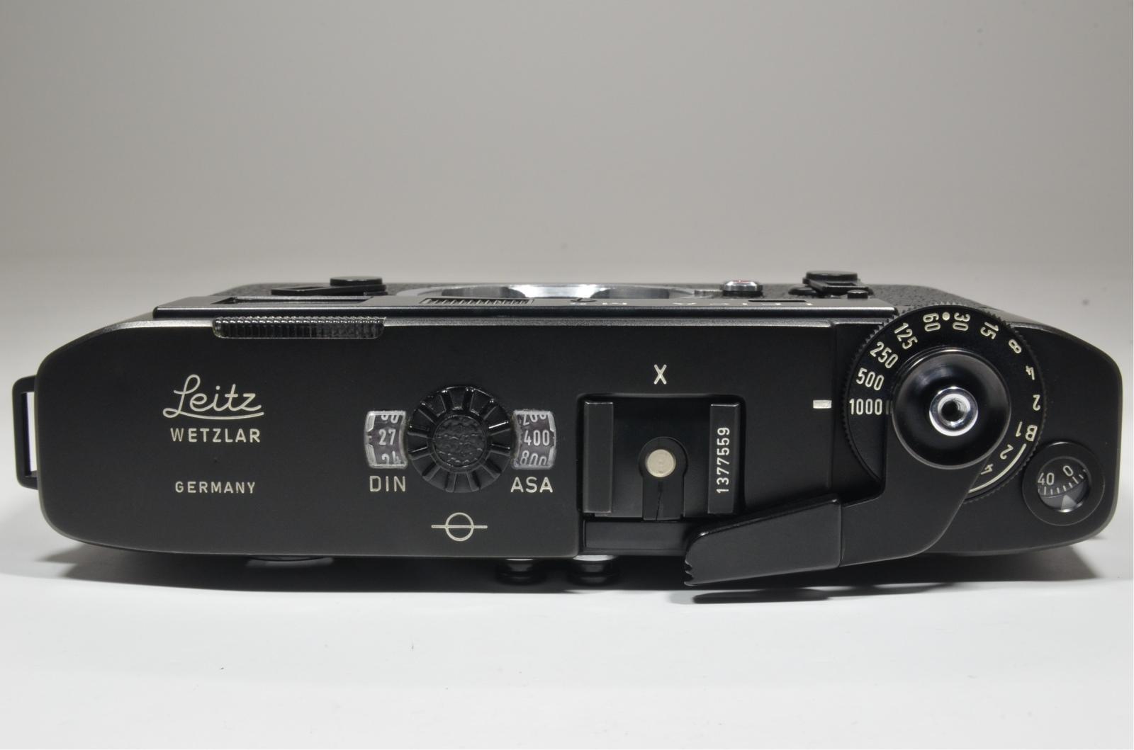 leica m5 black 3 lug year 1973 s/n 1377559 rangefinder camera