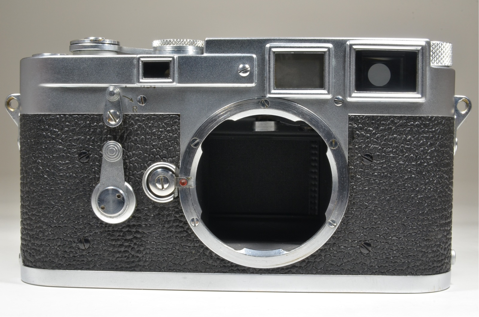 leica m3 double stroke s/n 704138 year 1954 with full leather case