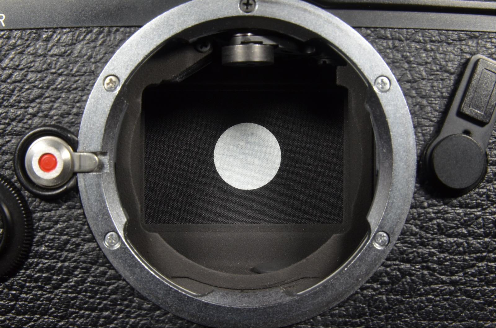 leica m6 0.72 black rangefinder serial no.1689478 year 1986 with case