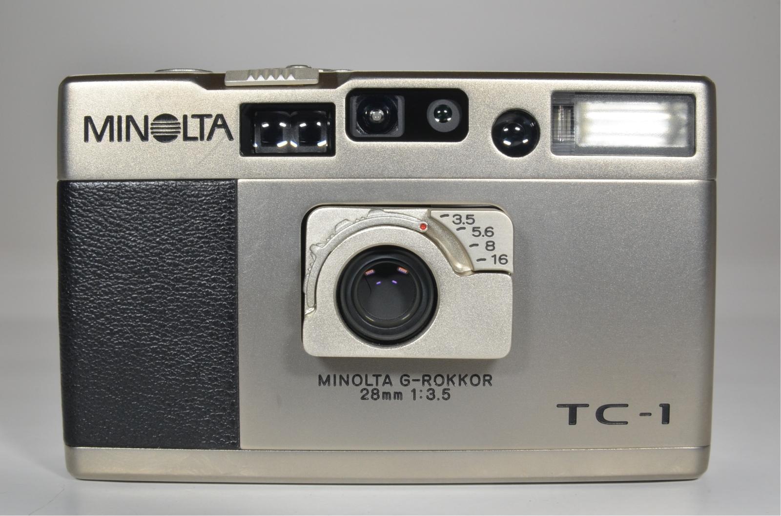 minolta tc-1 film camera in boxed