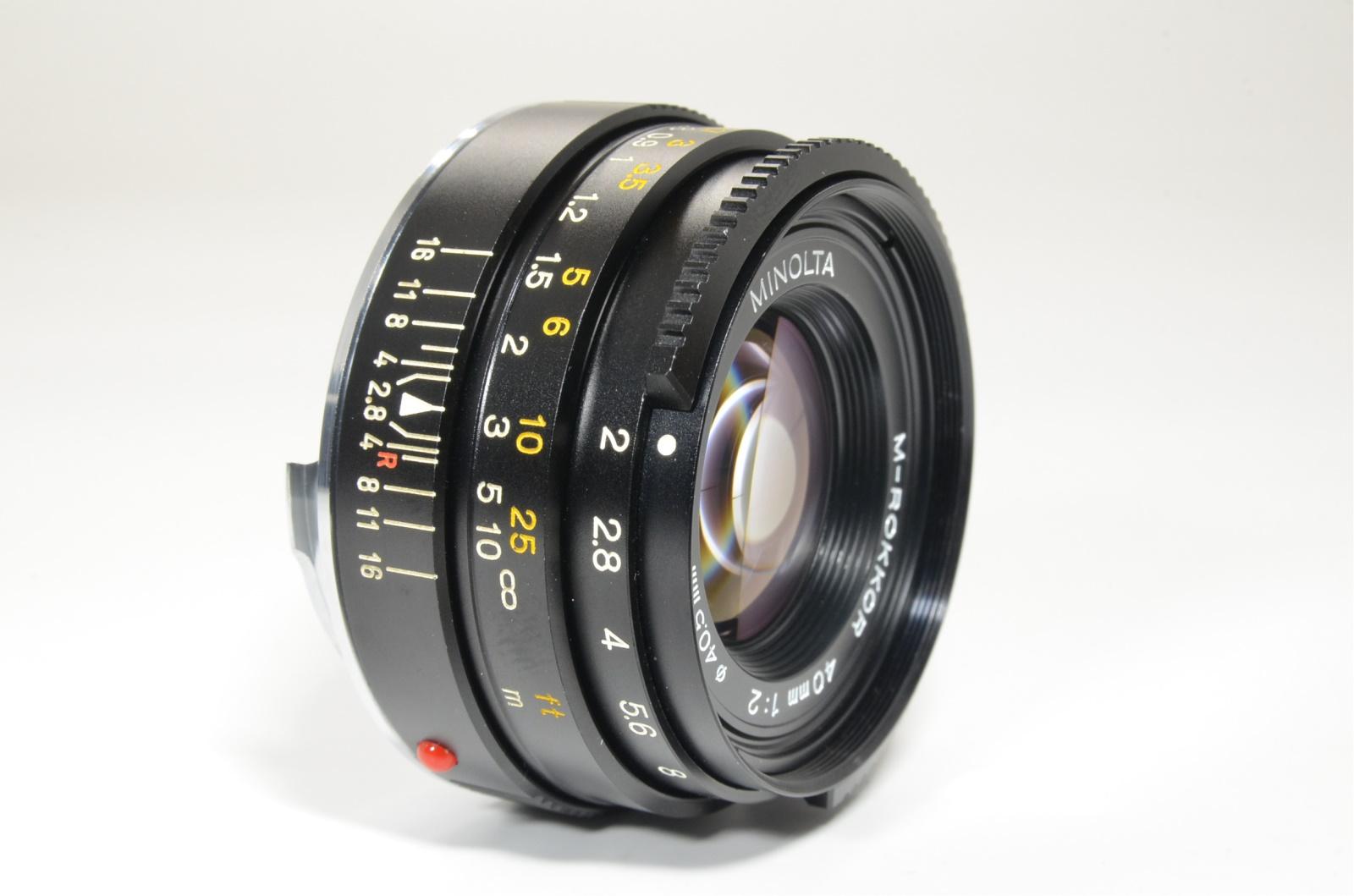 minolta cle film camera, m-rokkor lens 40mm, 90mm, flash, grip, shooting tested