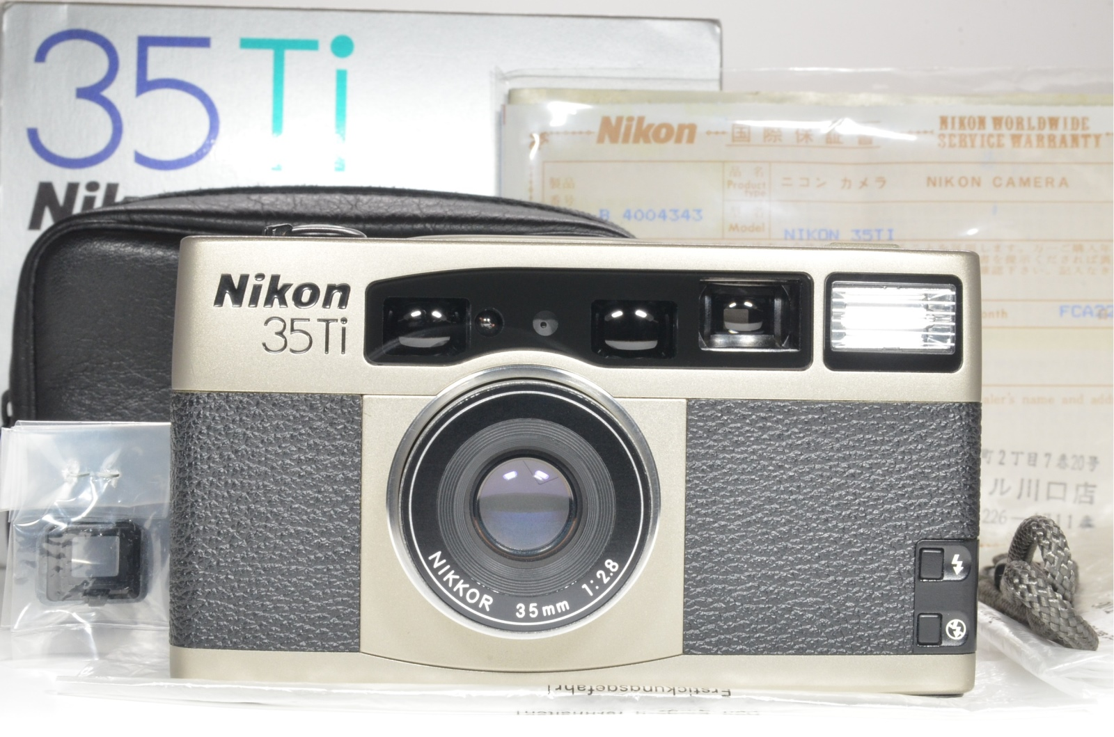 nikon 35ti in boxed point & shoot 35mm film camera 35mm f2.8