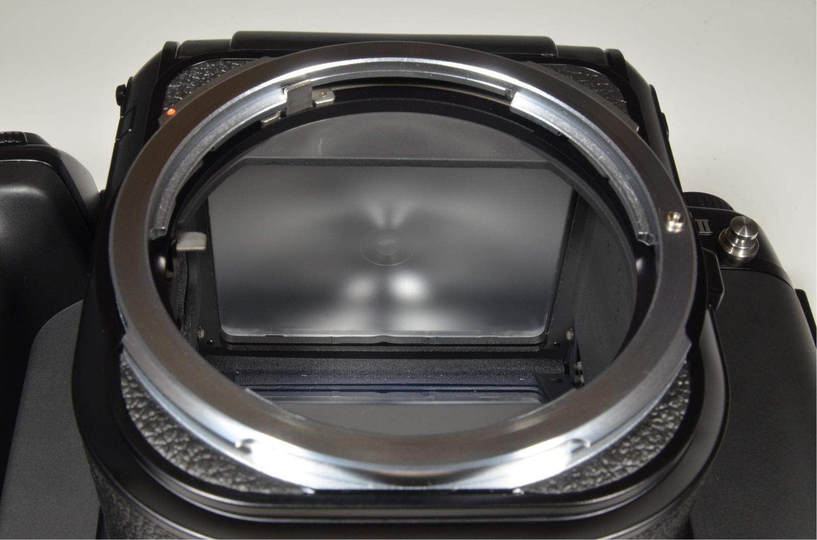 pentax 67 ii medium format slr film camera with wood grip