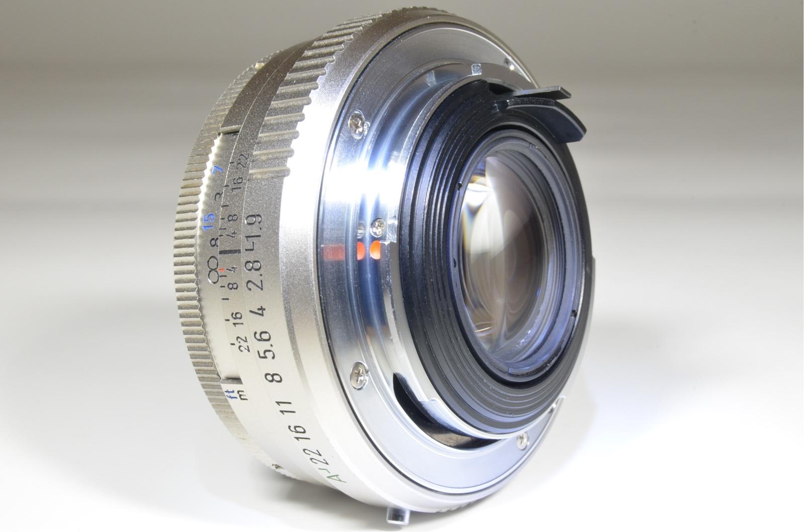 pentax smc fa 43mm f1.9 silver limited lens