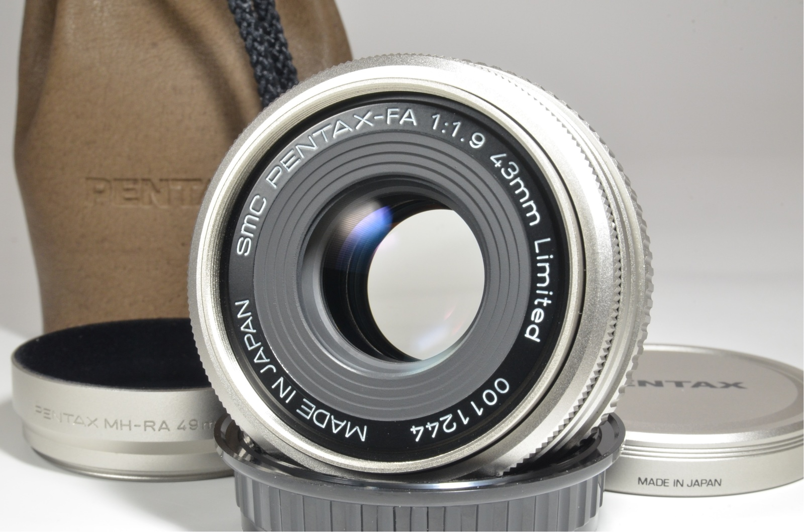 pentax smc fa 43mm f1.9 limited lens made in japan