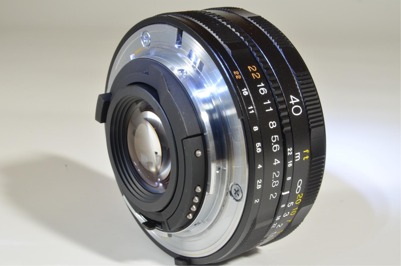 voigtlander ultron 40mm f/2 sl ii for nikon ai-s ais