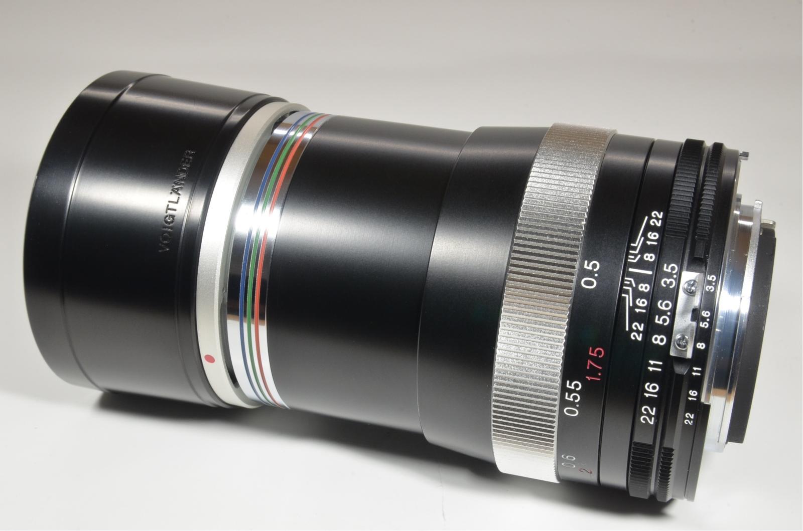 voigtlander apo-lanthar 90mm f3.5 sl ai-s nikon with lens hood