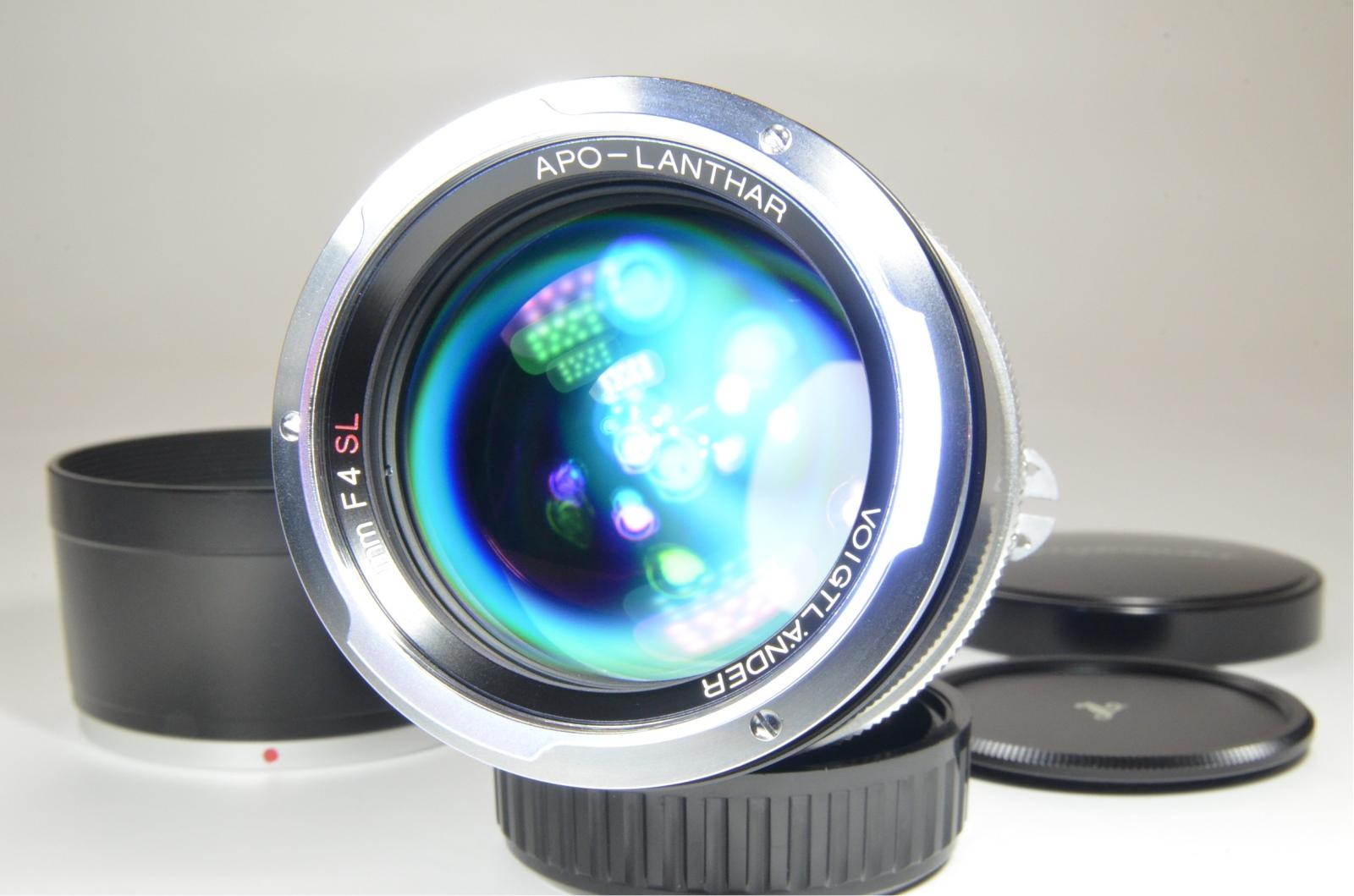 oigtlander apo-lanthar 180mm f4 sl for ai-s nikon w/ lens hood
